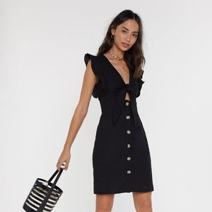 Nasty Gal Tie Bust Button Front Dress